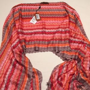 Missoni poncho beautiful colors 100% viscose NWT